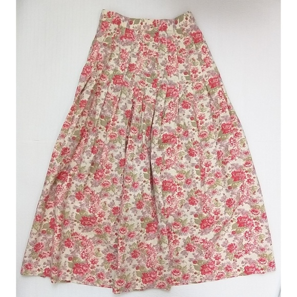 Laura Ashley Dresses & Skirts - Laura Ashley floral maxi skirt size 8